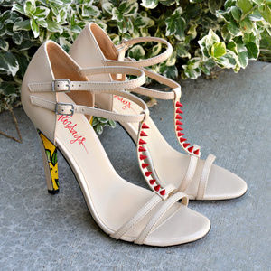 Taylor Says Rosebud strappy heels sundals in nude